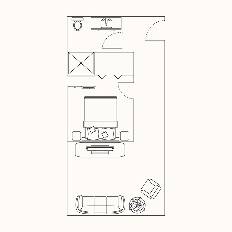 Floorplan A: 1 Bedroom