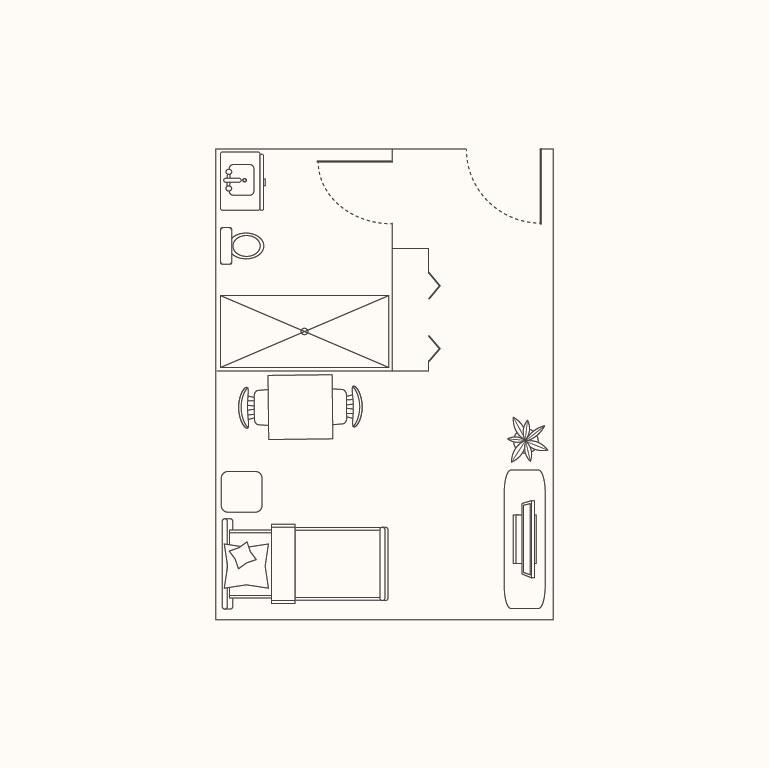 Floorplan E: Small Studio